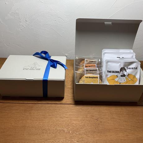 ➖gift BOX➖  BLEND  COFFEE 20g×5p 、Yeti doughnut 4個 set
