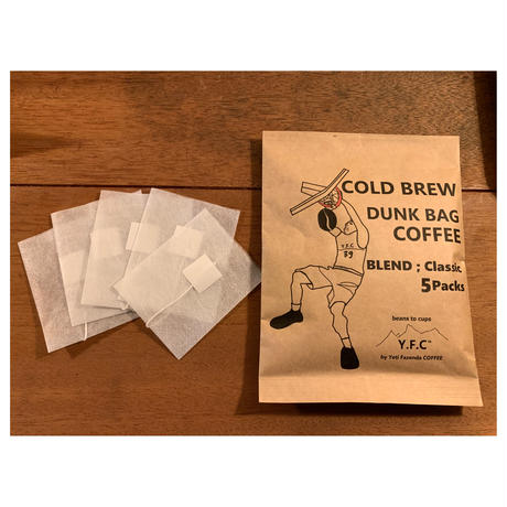 COLD BREW【水出しコーヒー】  DUNK BAG  COFFEE  : blend Classic 5p