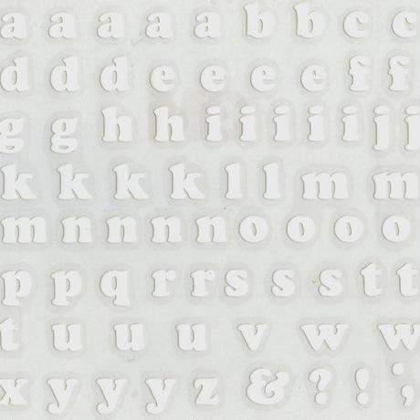 スコッチカルインレタシート 10mmセットパック 書体  クーパー 小文字 10JC6BS-047 (047裏ホワイト)