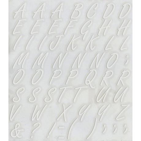 スコッチカルインレタシート 15mmセットパック 書体  フリースタイルスクリプト 大文字 F2400L-001 ホワイト(001裏グレー)