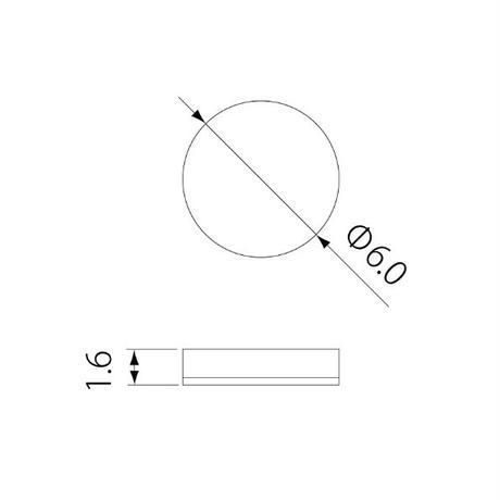 クッションゴム ブラックシリーズ 5816MP H1.6mm×直径6.0mm 20個入