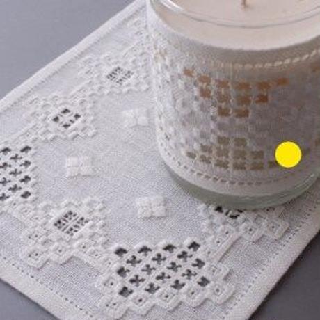 白糸刺繍「キャンドルカバー」【刺繍キット】