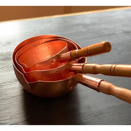 【飯田屋オリジナル】究極の熱伝導!純銅製雪平鍋 中サイズ(18cm)