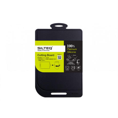 SILTEQ (シルテック) きれいのミカタ 丸めて煮沸除菌できるまな板 Sサイズ/ブラック