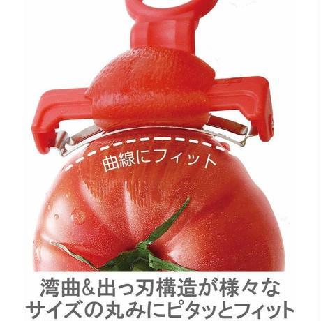【ドデスカで紹介されました】皮がむきにくいトマトでもスルスルむけるピーラー