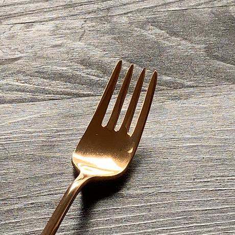 【飯田屋オリジナル】優しく光るピンクゴールドのデザートフォーク