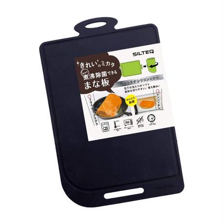SILTEQ (シルテック) きれいのミカタ 丸めて煮沸除菌できるまな板 Mサイズ/ブラック