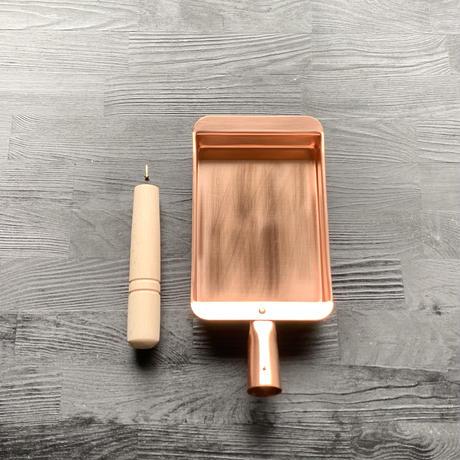 【究極のふわふわ玉子焼き器】純銅製玉子焼器10.5cm(小)長方形型(卵1~2個サイズ)