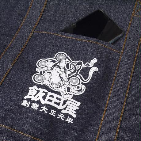 【飯田屋オリジナル】雷神カッパ料理長のデニムトートバッグ