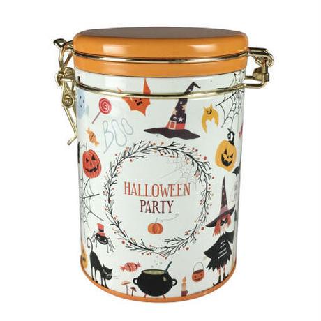 ハロウィン キャニスター缶 (オレンジ)