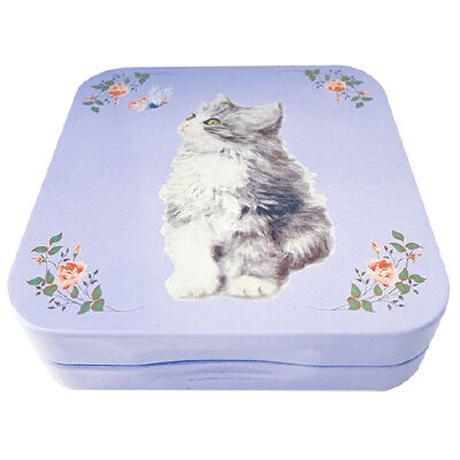 子猫 ミニ缶 (ブルー)