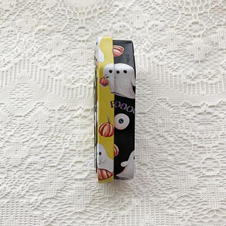 ハロウィン コフィン缶 (イエロー)