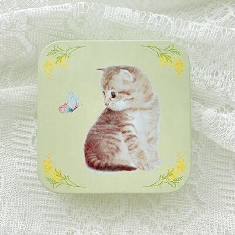 子猫 ミニ缶 (イエロー)