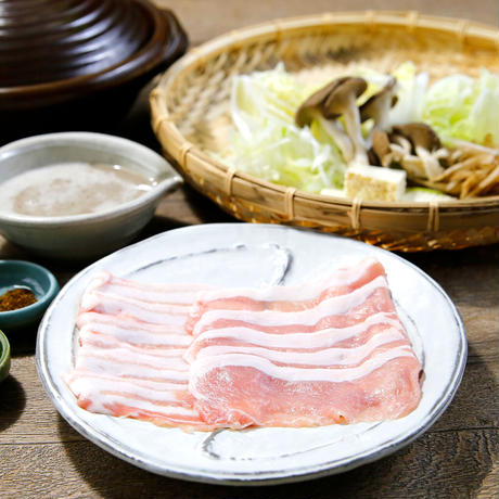 【キャンペーン】【〆のうどん付き】自然薯三元もち豚鍋(2人前)
