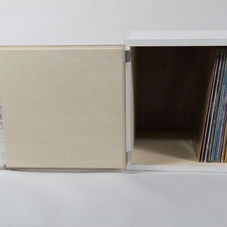 【受注生産】瀬戸内工芸製 フレーム & レコードラック 1ユニット / ホワイト