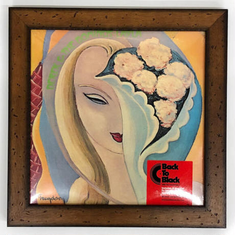LPレコードフレーム クラシックブラウン