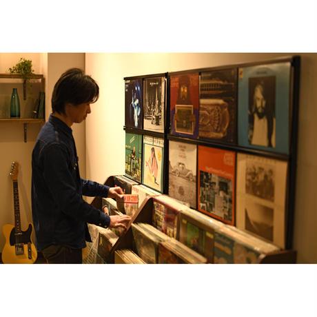 レコードラック (木目ダーク/LP約280枚収納)