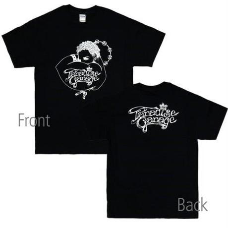 PARADISE GARAGE(パラダイス・ガラージ)BLACK両面ロゴ パラダイスガレージ tシャツ dj t