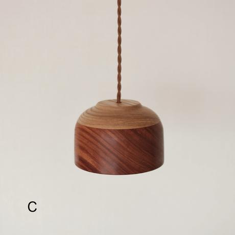 花梨とタモのランプ(A/B/C)
