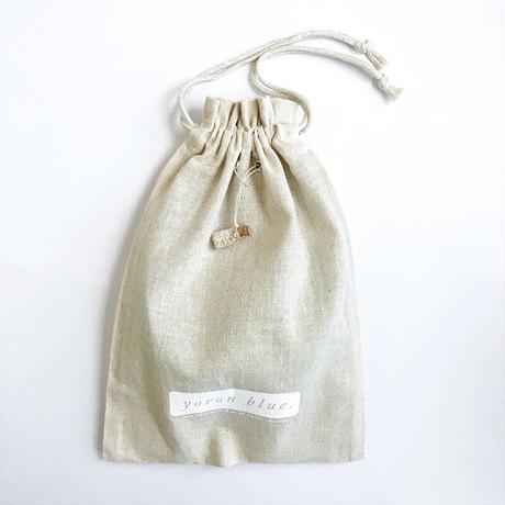 YBG005 コットンリネン巾着バッグ kinchaku bag