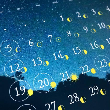 2021 yoron blue. calendar よろんほしめぐり