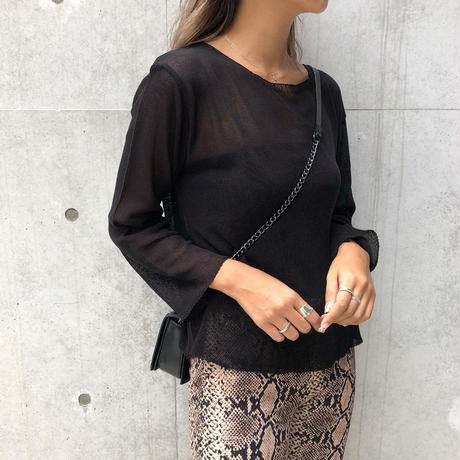 see-through loose knit tops