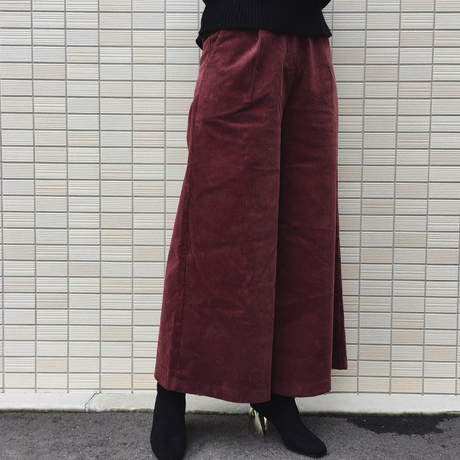 color wide pants
