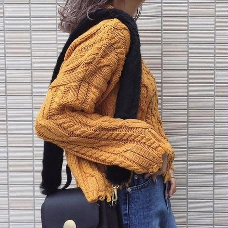 damage knit tops
