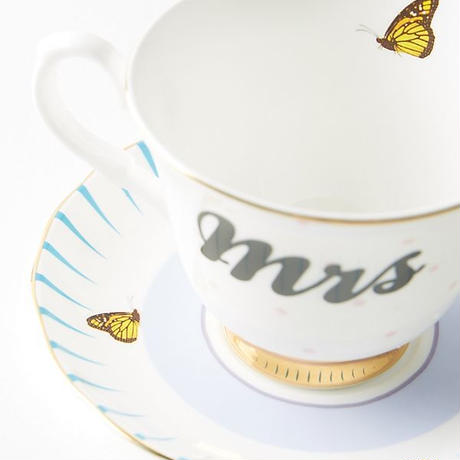 Anthropologie❤︎  Mr. and Mrs. Cup and Saucer 《送料込》