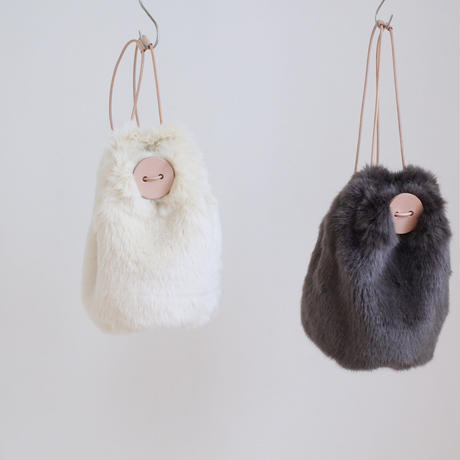即納 2018aw MOFUmonster lady's eco-fur bag