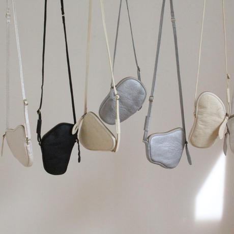 予約 2021AW  'pebbles' wallet bag     #madefrompinatex