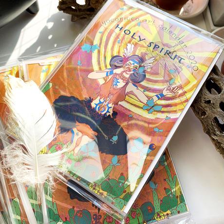 yocomoco.art yoga calendar 2020 'Holy Spirit'(スタンド/Stand type)