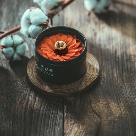 フラワーキャンドル オレンジ百日紅
