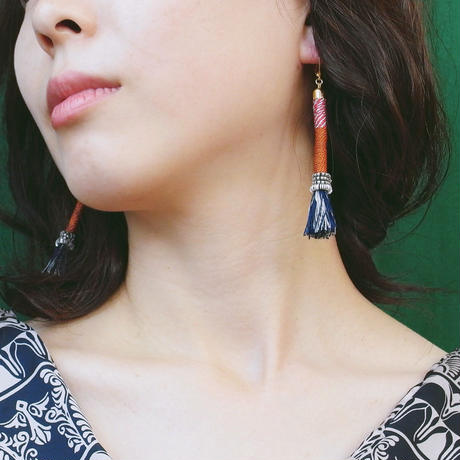 Masco◆Pole pierce/earring (4 color)