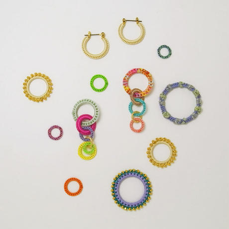 circle pierce/earring S Sunlight mix