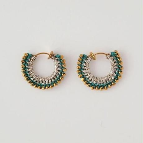 vita gold pierce/earring (Ssize) silver×emerald