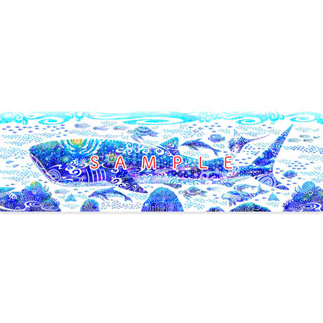 [290 size / パネル2枚組]青の世界