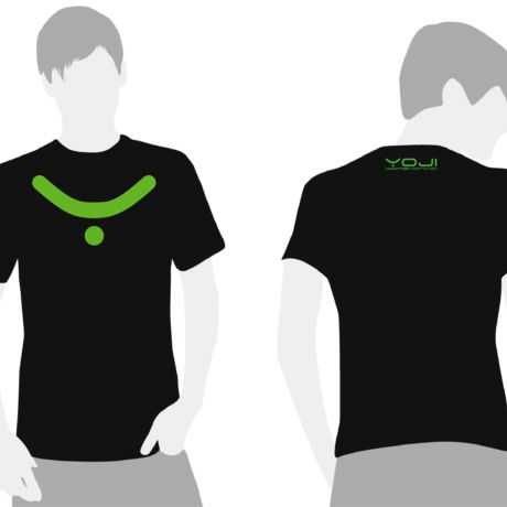 Neon Yellow Green Logo On Black T-Shirt  [完売につき販売終了]