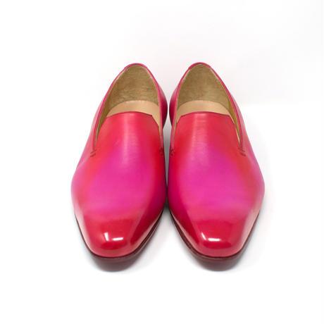 slip-on / semi square toe / leather sole / pink