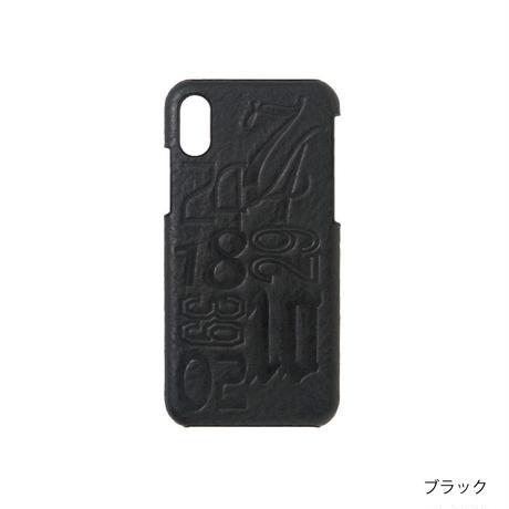 KSKハードケースナンバーiPhoneX(コバルト/レッド/キャメル/ブラック)