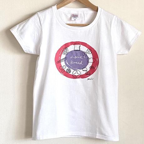 【Tシャツ】Love Bread ベリー色(キズ有り)