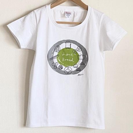 【Tシャツ】Love Bread 新緑色