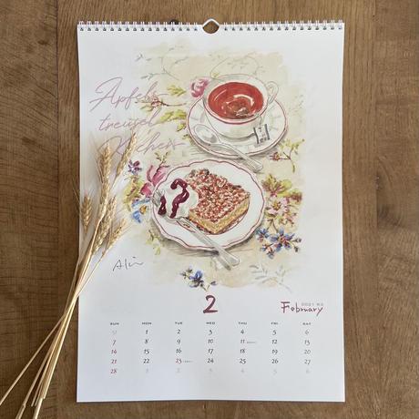 【再販/大1冊】A3パンのカレンダー(壁掛け/ハンガー付き)