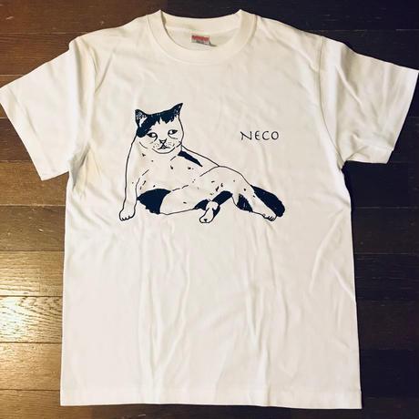 モンドくんTシャツ|しどけない猫|ホワイト
