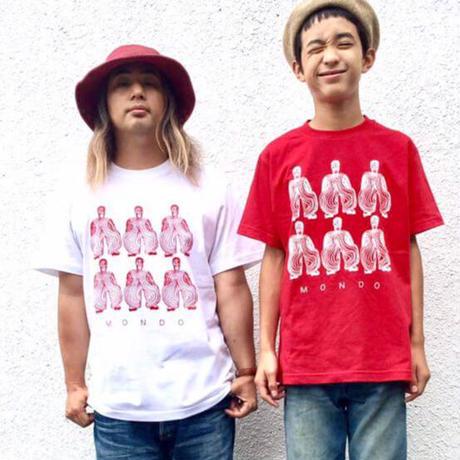 モンドくんTシャツ|ボウイ|ホワイト