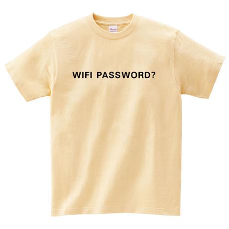 WIFI PASSWORD Tシャツ ナチュラル   ※メンズサイズ レディースサイズあり