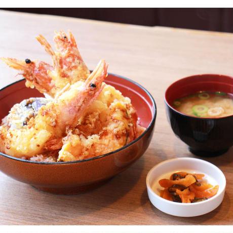 【炉端かば米子角盤町店】ぷりぷり大海老天丼