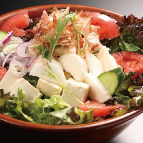 【炉端かば米子角盤町店】鳥取県産ねばりっこのサラダ(青じそ)