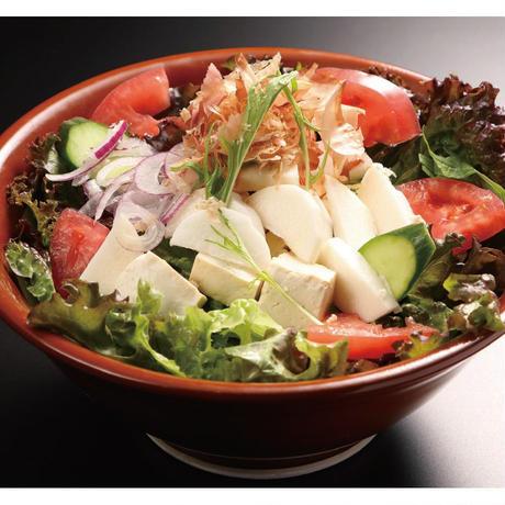 【山陰郷土料理かば米子駅前店】ねばりっこサラダ(自家製あかもくドレッシング)