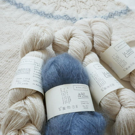 Biches et Bûches no.73キット(日本語PDFパターン付き)・KNITTING POUCHセット
